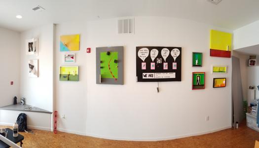Open Studio installation for First Friday, October