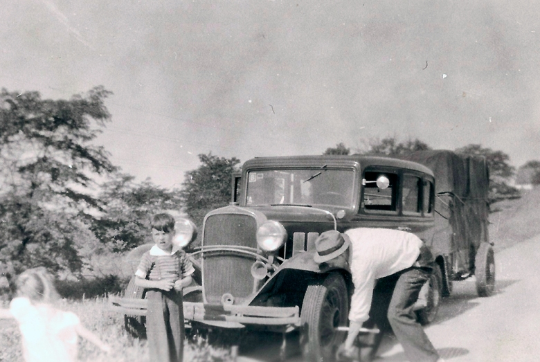 Flat Tire in Iowa 1947
